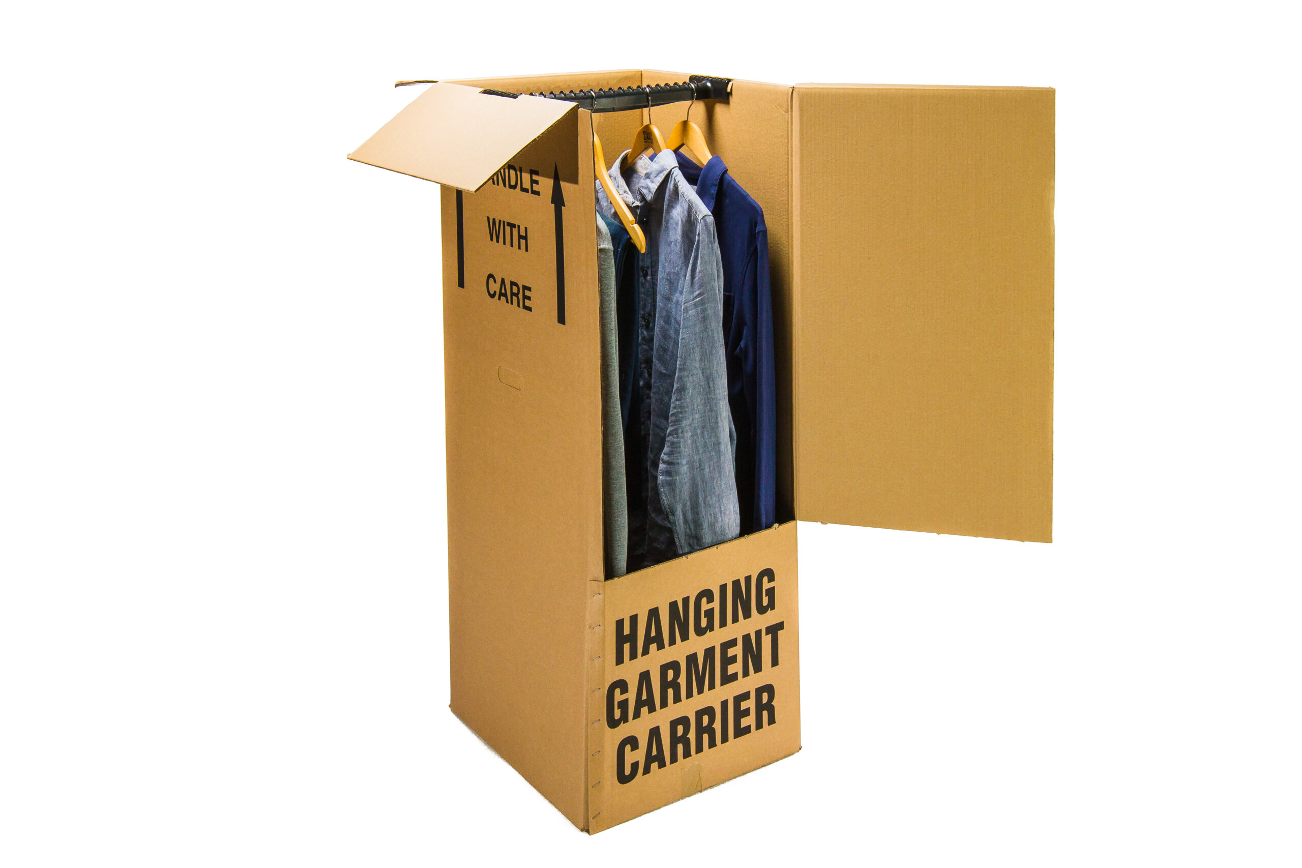Wardrobe box and rail - Clear Storage Packaging